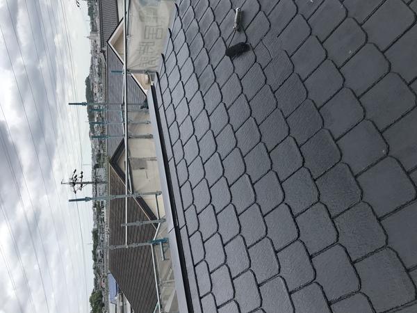 屋根塗装完了!