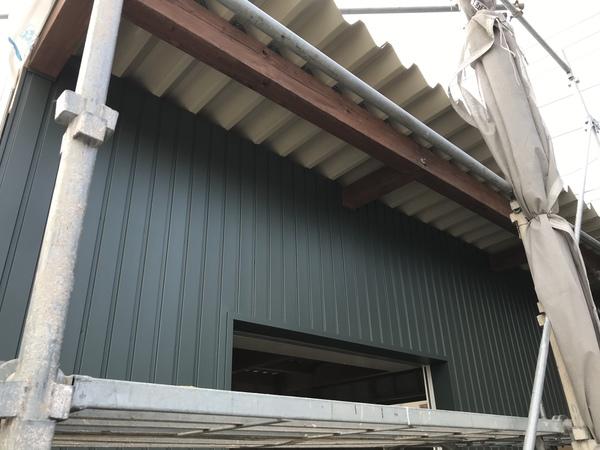安城市 K様邸 新築倉庫木部塗装