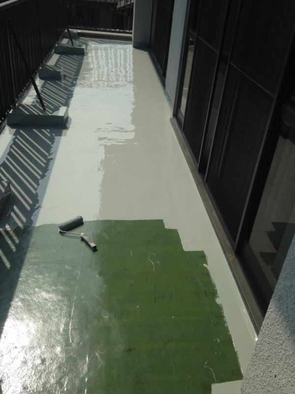 安城市 ベランダウレタン防水工事