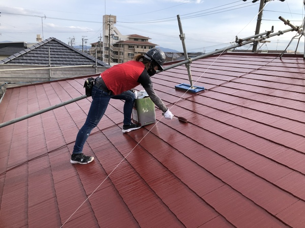 安城市  アパート 屋根塗装